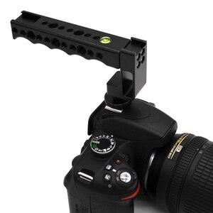 Image 3 - Manija de zapato Universal en frío/caliente, agarre de carga, cámara DSLR de tiro de ángulo bajo para Canon/Nikon/Sony/Pentax