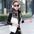2017 new style designer Hot sale autumn winter Cotton print down cotton vest female stand collar slim Jacket Cheap wholesale