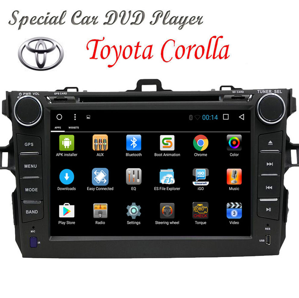 Quad Core Android 6.0 Car Radio HD DVD GPS Player For Toyota Corolla 2007-2013