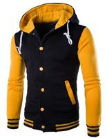 Autumn And Winter New Even The Cap Baseball 8 Color Men S Slim Velour Hoodie