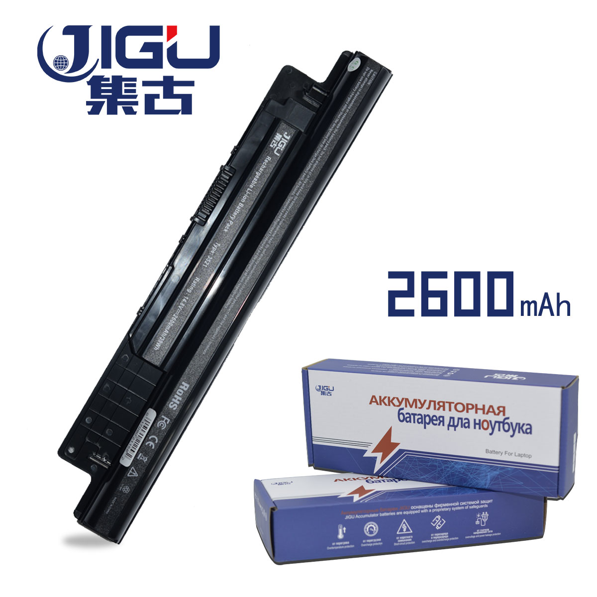 все цены на JIGU Laptop Battery For Dell FW1MN 6KP1N G019Y MR90Y For Inspiron 15R (5521) 17 3721 for Vostro 14 15 3000 3449 2421 3549 2521 онлайн