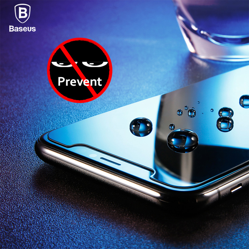 Baseus 0.3mm Anti Spy Tempered Glass For iPhone X 10 Privacy Screen Protector For iPhoneX Anti Peeping Film Protective Glass