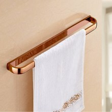 Rose Gold Square Single Towel Bar Bathroom Wall Mounted Towel Rail Holder Bathroom Accessories KD699 стоимость
