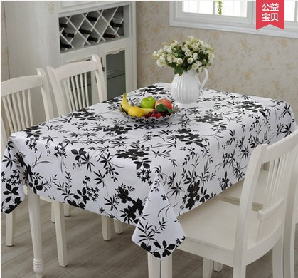 PVC Modern Simplicity Black Bamboo Tablecloths Plants Table Cloth For  Wedding TV Party Hotel Tree Waterproof And Oilproof