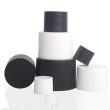 12 x 3g 5g 10g 15g 30g 50g 80g Portable  Frost white Black Cream pot cosmetic container plastic bottle makeup Facial jars