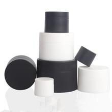 12 x 3g 5g 10g 15g 30g 50g 80g Portable  Frost white Black Cream pot  cosmetic container plastic bottle makeup Facial Cream jars недорго, оригинальная цена