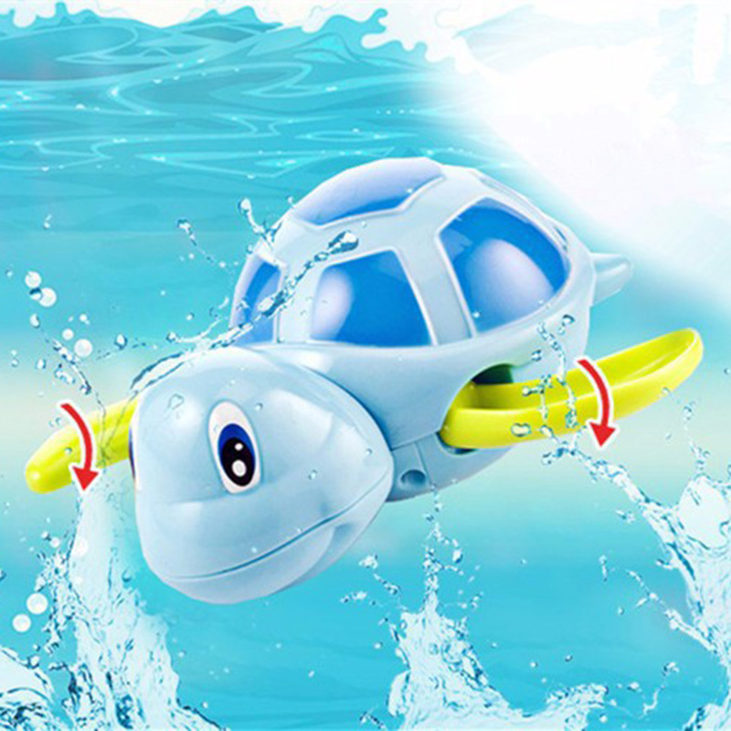 <font><b>New</b></font> <font><b>Born</b></font> Babies Swim Turtle Wound-up Chain Cartooon Small Animal Baby Children Bath <font><b>Toy</b></font> Classic <font><b>Toys</b></font> Baby Water <font><b>Toys</b></font> image