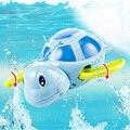 Bebês Recém-nascidos Nadar Cartooon Tartaruga Ferida-up Cadeia Brinquedo Pequeno Animal Banho Do Bebê Crianças Clássicos Brinquedos de Água Do Bebê brinquedos
