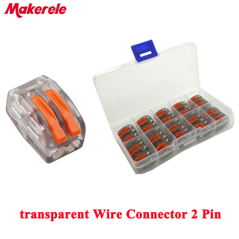20pcs Transparent Universal Fast Wire Wiring Connector 2