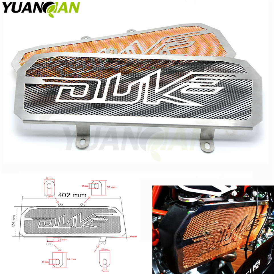 FOR duke 390/200 Motorcycle Accessories Radiator Grill Guard Cover Protector For Ktm Duke 200 390 motocross Performance parts