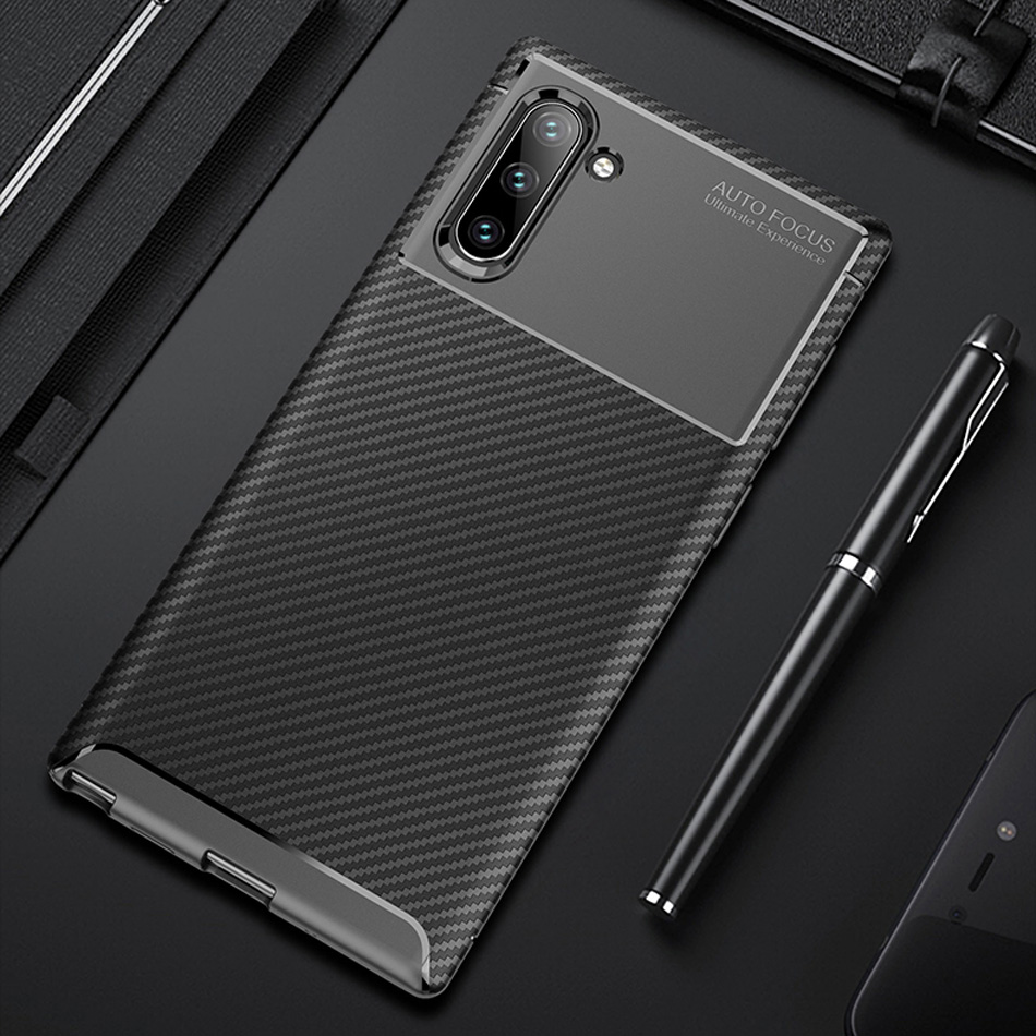Note 10 Carbon Fiber Case For Samsung Galaxy Note 10 Pro Case Luxury Soft TPU Slim Silicone Cover for Samsung Note 10 Bumper