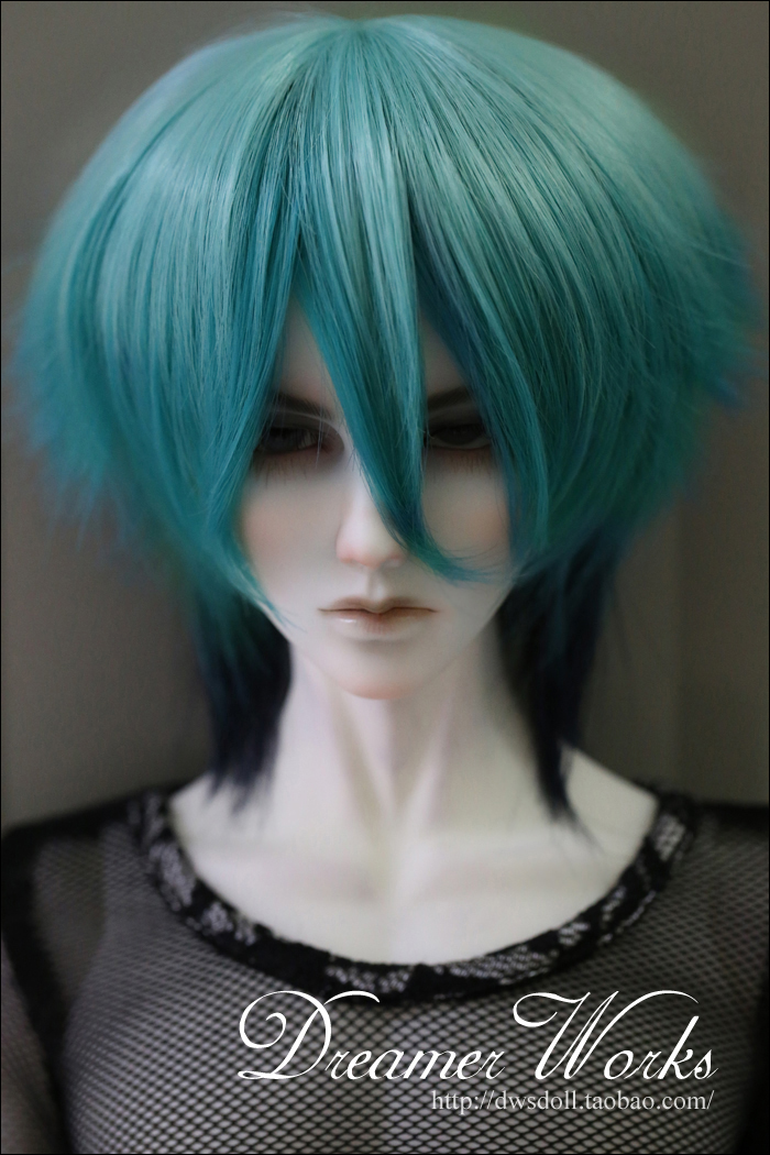 1/4 1/3 scale BJD  doll wig short hair for DIY BJD/SD accessory.Not included doll,clothes,shoes,and other accessories 17C3254 25cm 100cm doll wigs hair refires bjd hair black gold brown green straight wig thick hair for 1 3 1 4 bjd diy
