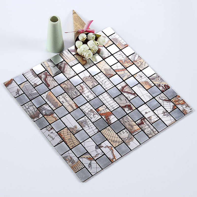 HomeyStyle 11 Pieces DIY Metal Peel and Stick Mosaic Tiles ...