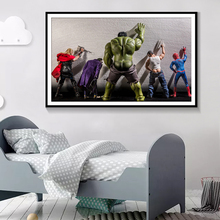 Superheros Marvel DC Comics Hot Movie Poster Wall Art Canvas Painting Nordic Decoration Pictures For Living Room Unframed