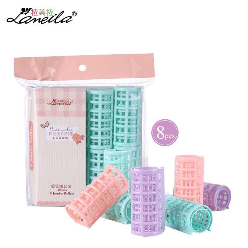 LAMEILA 8pcs Hair Rollers Soft Hair Curlers Roller Magic Curler Plastic Curling Curls Diy Hairstyle Care