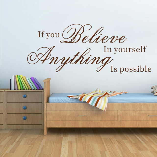 If You Believe In Yourself,Anything Is Possible Inspirational Wall ...