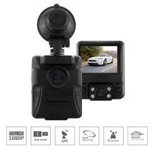 "GS65H New Arrival Hot Novatek 96655 Dual Lens Car DVR 2.4"" Display Camera 1920x1080P Full HD Dash Cam Built-in GPS Night Vision(China)"