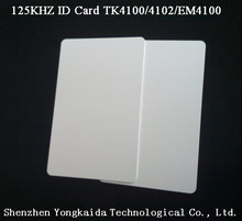 10000pcs/lot 125 kHz RFID Blank id card TK4100 EM4100 smart id card printable entry access