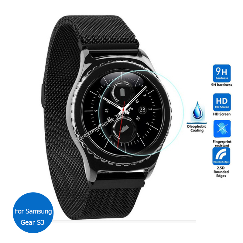 for samsung galaxy gear s3 tempered glass screen protector. Black Bedroom Furniture Sets. Home Design Ideas