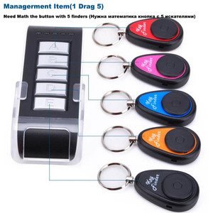 Image 3 - Topvico Smart Finder Tag Tracker 1 Remote Controller 5 Receivers Long Distance Wireless Key Cellphone Kids Wallet Finder Alarm