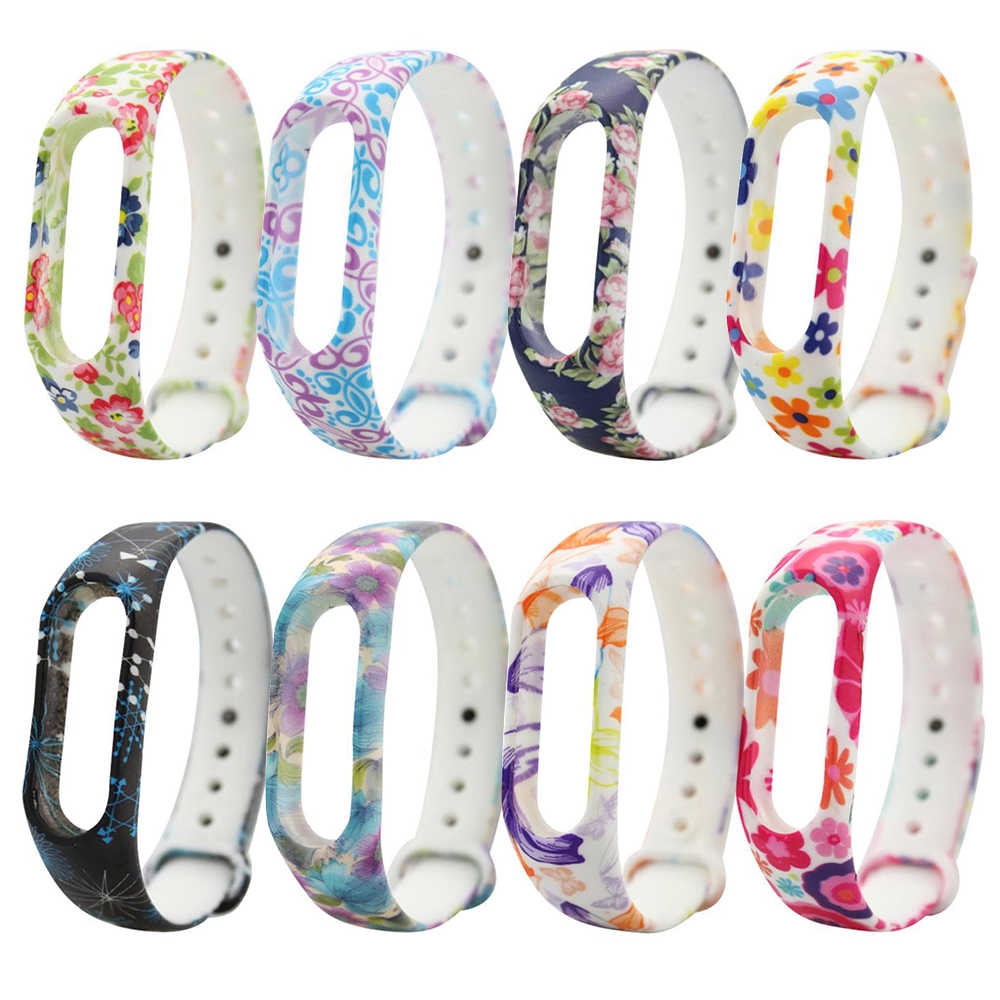 Beautiful Bracelet for Xiaomi Mi Band 2 Sport Strap Watch Silicone Wrist Strap for Xiaomi Mi Band 2 Bracelet for Miband 2