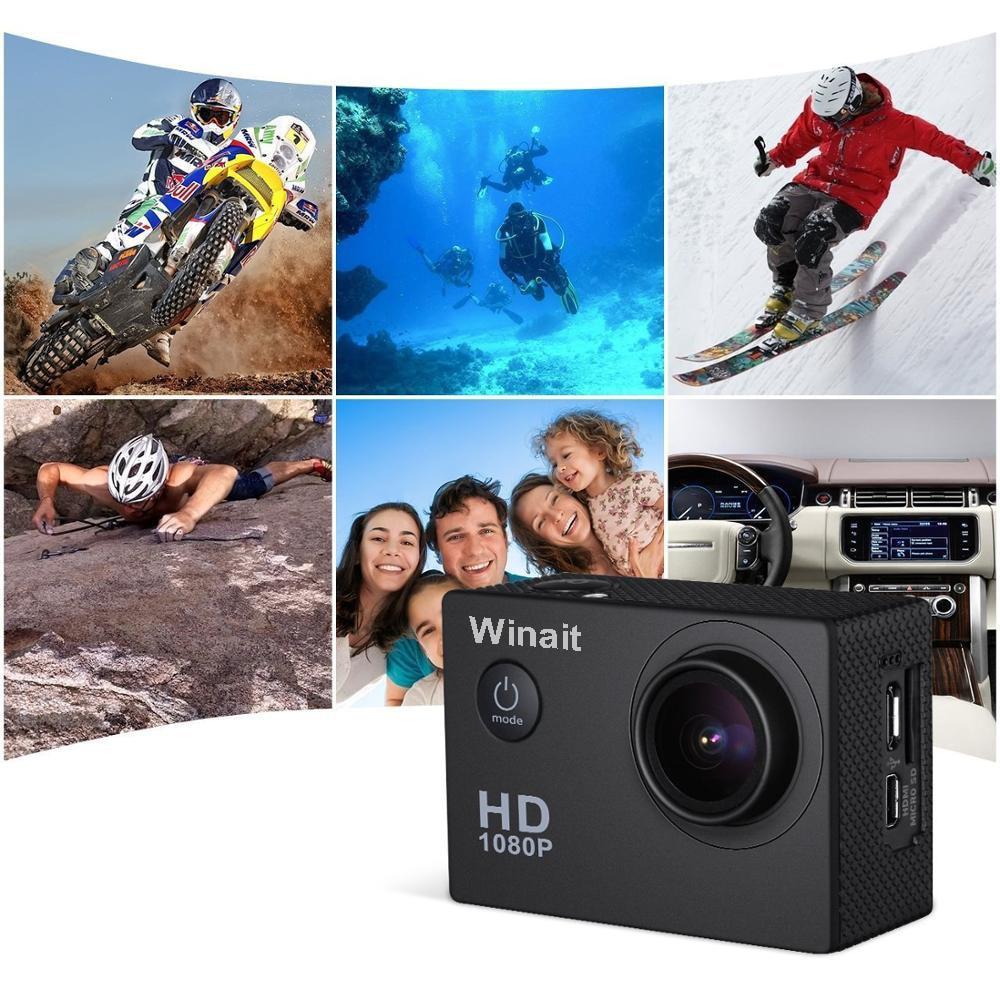 Winait 2.0 TFT LCD Display Pocket Camera Sports DV 30M Underwater Mini Camera HD 1920*1080 HDMI USB Interface