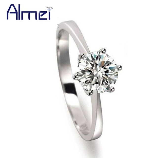 f99458f82c5d Almei 10% descuento encantos piedra grande anillo Mujer joyería productos  Chinos Baratos Anillos Plata Mujer