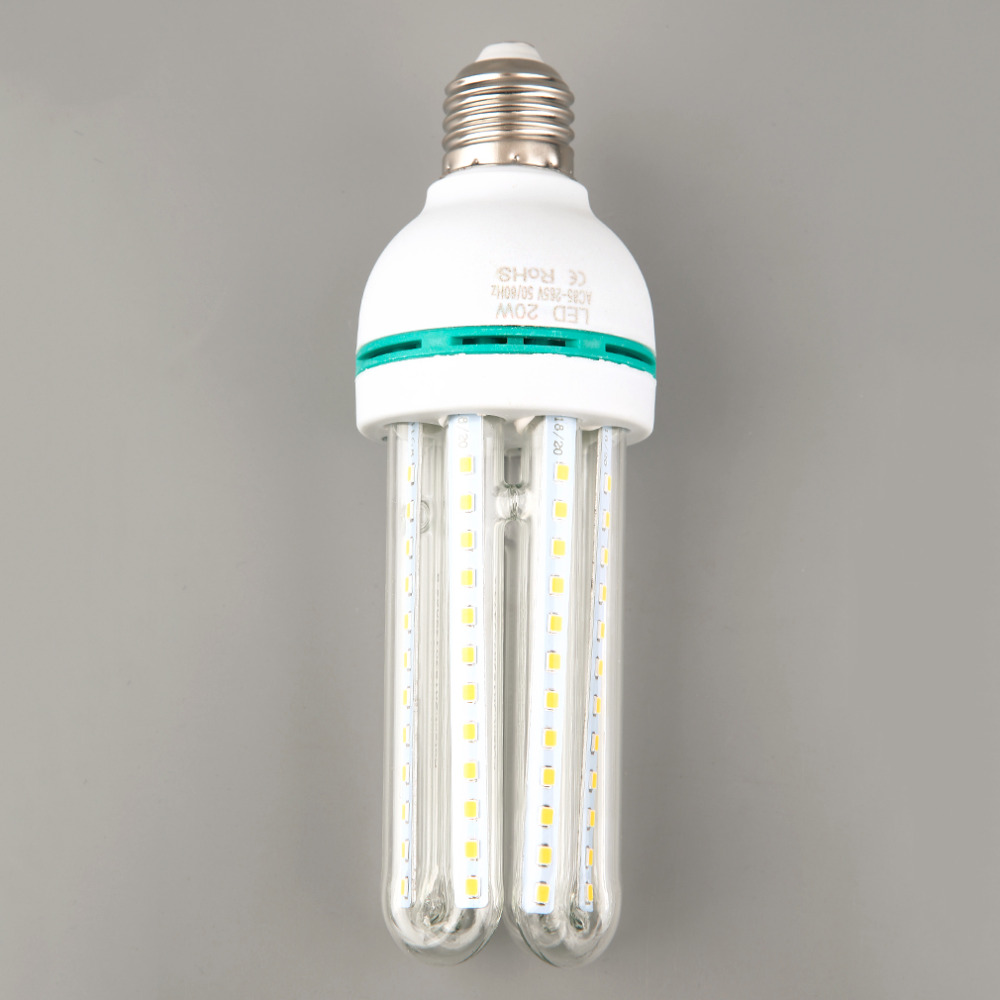 2016 New Ultra Bright E27 20w 4u Corn Led Bulb Long Lasting Energy Saving Light Ac86 265v White