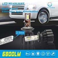 2Pcs H4 H7 LED Car Headlights Beads Ultra Thin Super Heat Dissipation P9 Car LED Daytime
