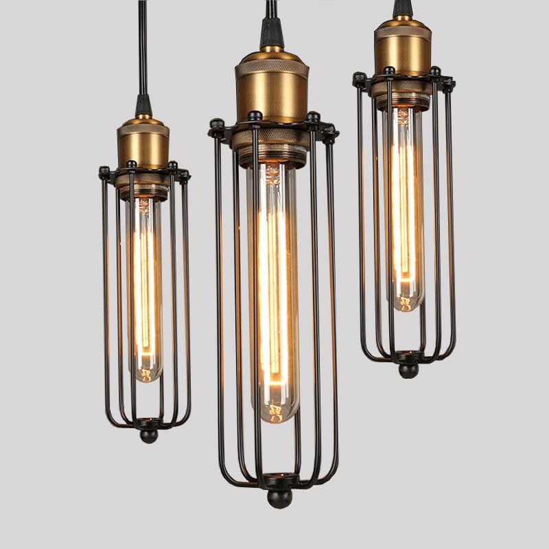Retro RH industrijske obesne svetilke za skladišče / bar a - Notranja razsvetljava - Fotografija 3