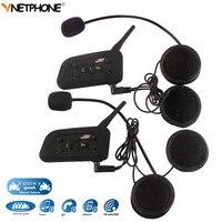 2PCS 1200M Wireless Bluetooth Motorcycle Helmet Intercom 6 Riders BT Interphone Moto Headset Intercomunicador Motocicleta