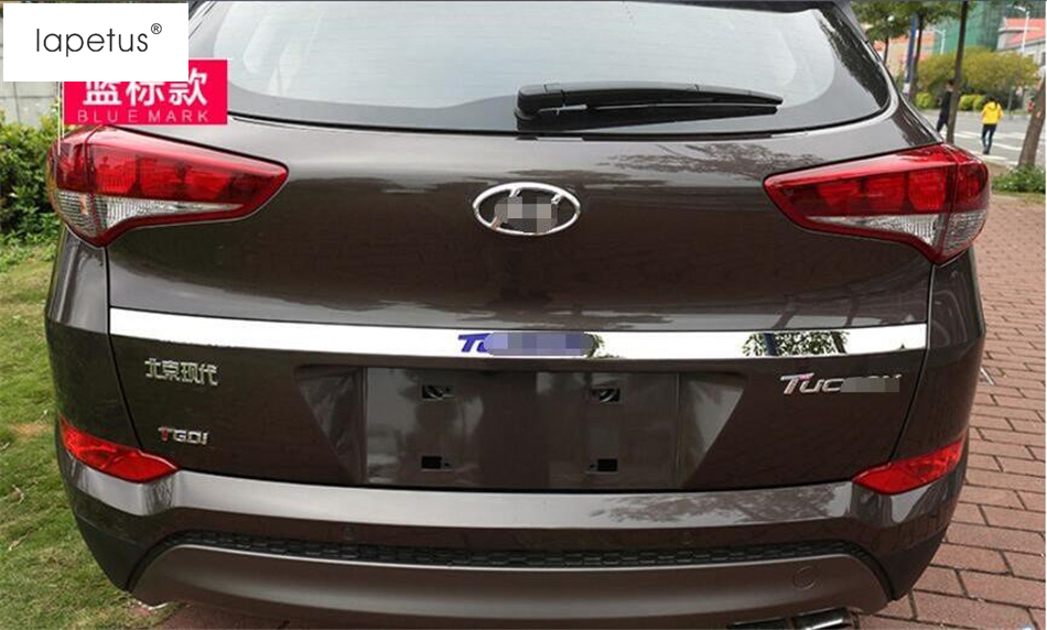 Accessories For Hyundai Tucson 2016 - 2018 Rear Trunk Lid Cover Tailgate Trim Hatch Back Door Handle Molding Boot Garnish Strip