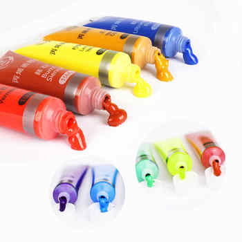 12/24 Colors 15/36ML Acrylic Paint Set for Painting Supplies Professional Hand Painted DIY Creation Water-resistant Drawing Tool