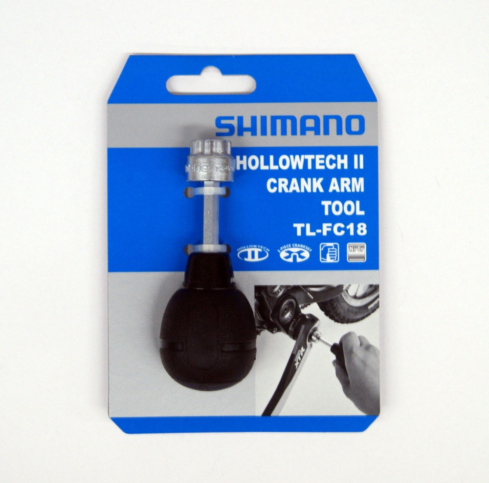 Original Shimano Bicycle TL FC18 Hollowtech II Crankset Arm lnstallation Tool Driver Bike Parts