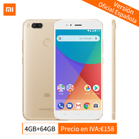 Global Version Original Xiaomi Mi A1 4GB 64GB Mobile Phone Snapdragon 625 Octa Core 5.5 1080P Dual Camera 12.0MP Android One CE