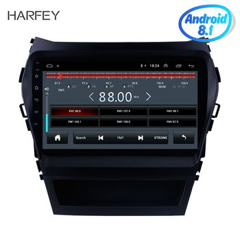 Harfey 9 Android 8.1 Car Multimedia Player HD Touchscreen Radio GPS Navigation For 2013-2017 Hyundai IX45 SantaFe SWC image