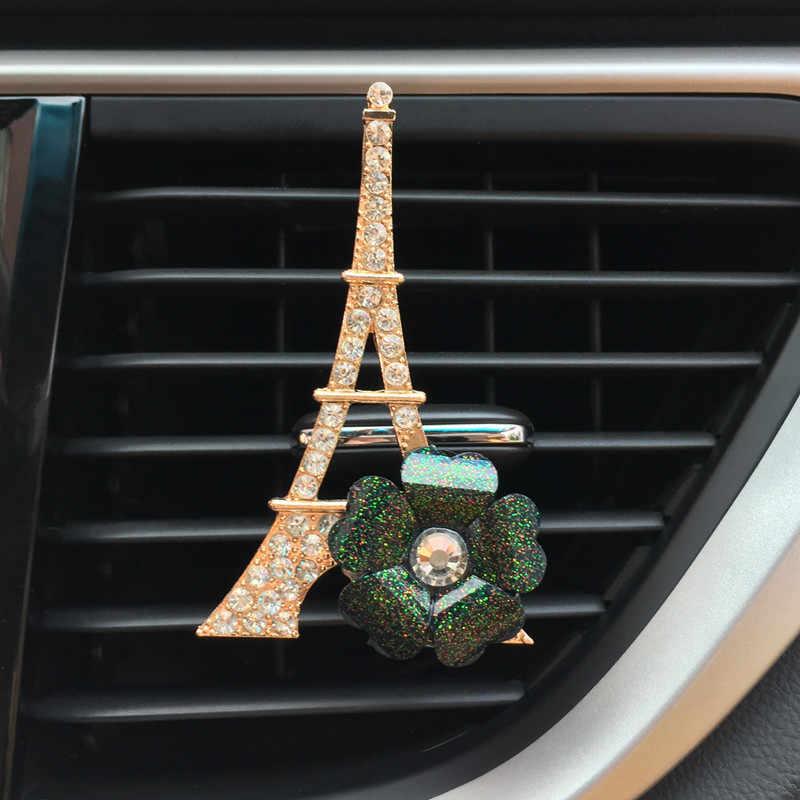 JOORMOM kulesi çiçek kadın araba havalandırma klip moda araba dekorasyon araba parfüm oto aksesuar