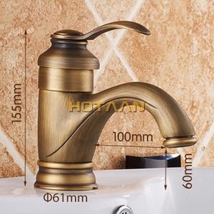 Image 5 - Лидер продаж, бесплатная доставка, античный латунный Смеситель для раковины 6 дюймов, кран для раковины, смеситель для воды, оригинальный кран