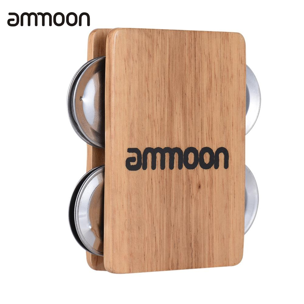 buy ammoon 4 bell jingle castanet cajon box drum companion accessory for hand. Black Bedroom Furniture Sets. Home Design Ideas