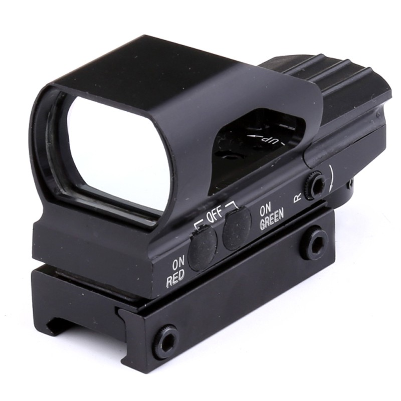 Outdoor Hunting Sports Red & Green Dot Sight 4 Reticles Reflex Sight ON & OFF Switch With 20mm Rail MountOutdoor Hunting Sports Red & Green Dot Sight 4 Reticles Reflex Sight ON & OFF Switch With 20mm Rail Mount