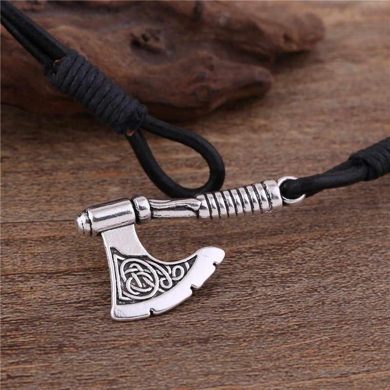 Skyrim Vintage biżuteria słowiańska Perun Axe Charm Wrap kotwica bransoletka akcesoria skórzane czarny/brązowy tkane bransoletka mężczyzn biżuteria prezent