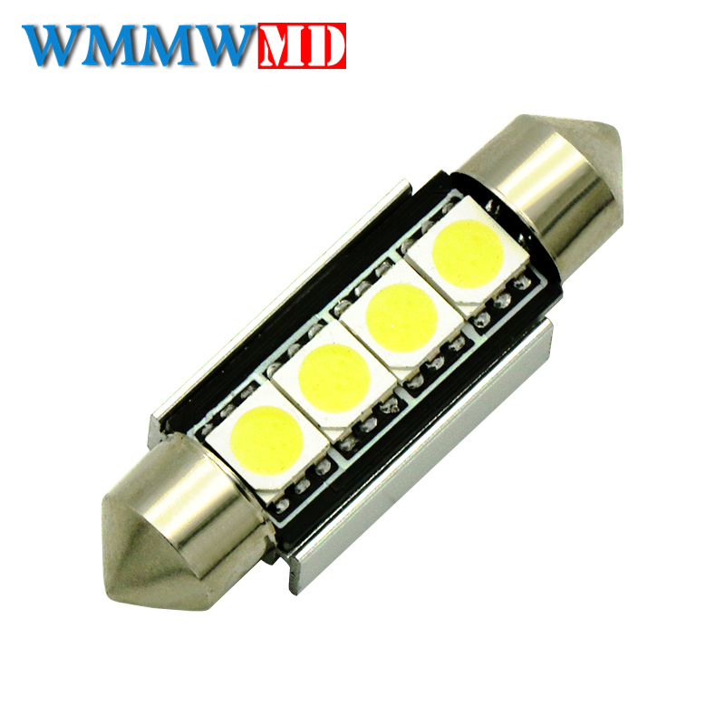 31mm 36mm 39mm 41mm C5W C10W CANBUS NO Error Auto Festoon Light 8 SMD 5050 LED Car Interior Dome Lamp Reading Bulb White DC 12V 10x festoon canbus 31 36 39 41mm c5w error free 5630 6 led smd interior white ice blue led dome light smd roof bulbs