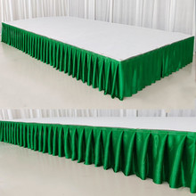 Шелк льда шифон свадебный стол юбка для свадебной вечеринки Банкет Ресторан сценическое украшение белый стол плинтус для скатерти