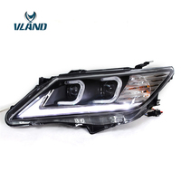 VLAND Factory For Car Head Lamp For Camry LED Headlight 2012 2014 Camry Head Light With Angel Eyes DRL H7 Xenon Lamp