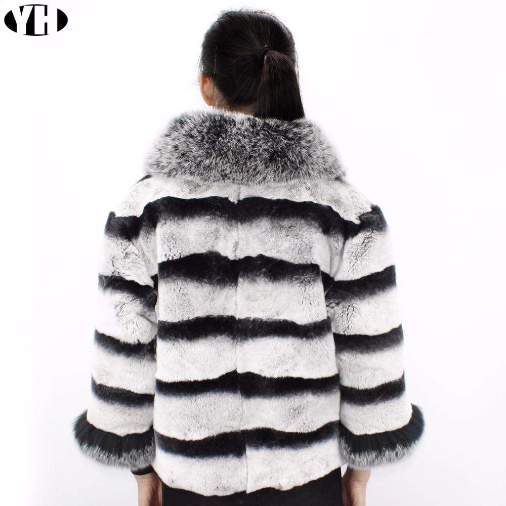 Col Femmes Réel Veste Mode Survêtement Chinchilla Hiver Dame Grand Lapin Chaude Rex Et 2018 Douce Renard Nouveau Manteau Fourrure De 4w0qdOwp