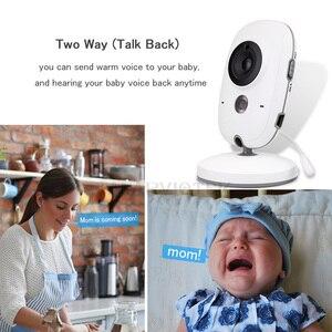 Image 5 - Baby Monitor Video LCD a colori 2 vie Audio Talk 8 ninne nanne nanne monitor di temperatura video tata radio baby camera Wireless