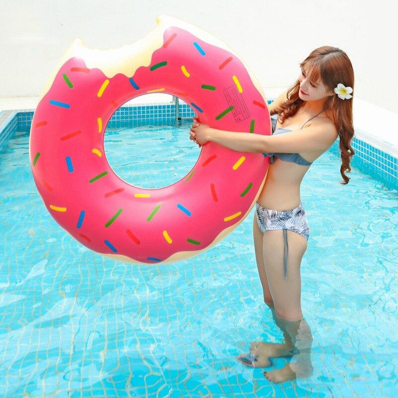 Swimming Pool Rubber Ring Donut 118cm Float
