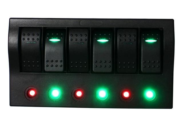 12v 24v 6gang bus marine boat bridge control led ( 5 on off switch