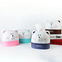 Polar Bear Paper Towel Tube Cute Cartoon Roll Paper Tube Cylinder Desktop Storage Boxes