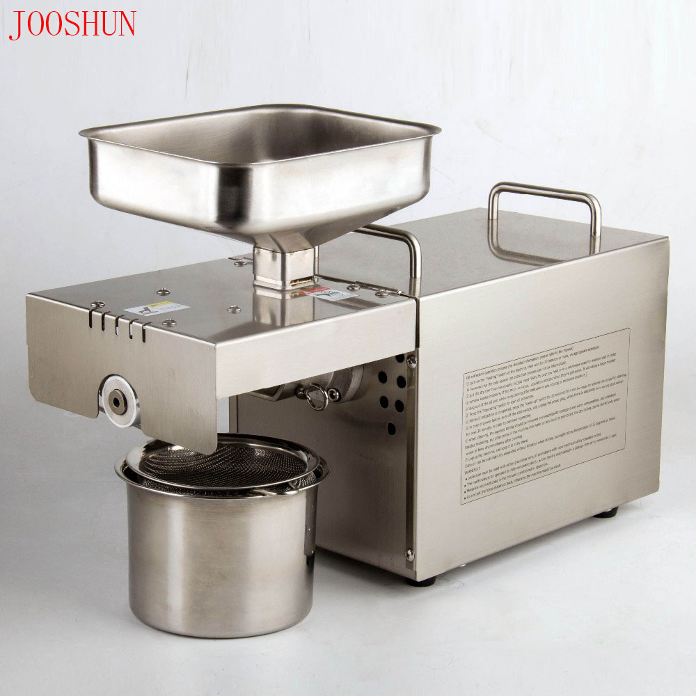 1 Set Manual Feeding Automatic Oil Press Almond Nuts Seeds Oil Press Expeller Oil Extractor cold
